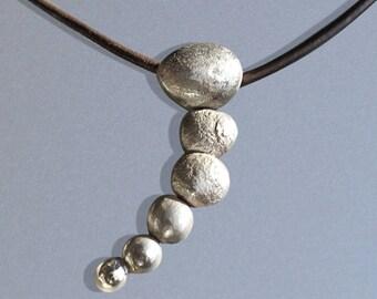 Silver Pendant, Summer Pebbles Pendant, Silver Jewellery, Handmade Silver Jewelry