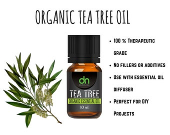 Tea Tree Oil  - Organic Tea Tree Oil - Organic Tea Tree Essential Oil - 10 ml - Tea Tree Essential Oil - Tea Tree - Organic Essential Oil