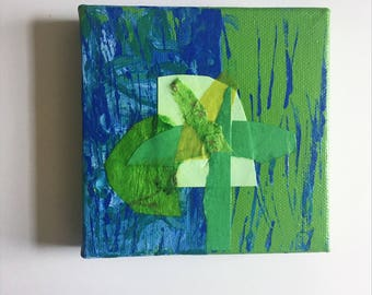 Mini Mixed Media Canvas: Spring No. 3
