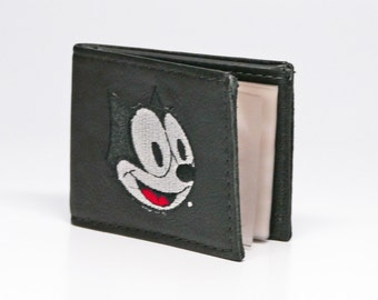 Small Black Felix the Cat Soft Leather Wallet