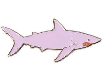 Lilac Shark - Lapel Pin
