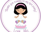 Reserved For Symone - Spa Party  Favor Tag