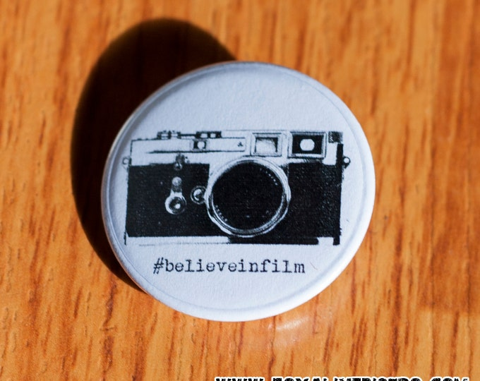 "Believe In Film - 1.25"" Pinback Button"