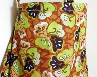 LAST CHANCE CLEARANCE Clearance Nursing Cover Up - Brown and Olive Green Flower Blossom - Perfect for the Modest Nursing Mom