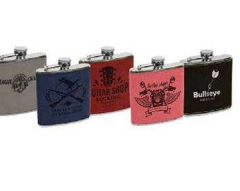 Leatherette Stainless Steel Flask (6 Ounce)