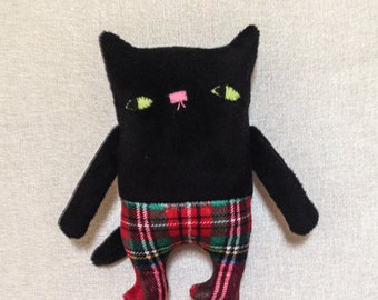 Fred small stuffed cat fabric doll stuffed animal