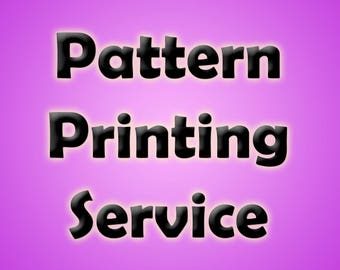 Pattern Printing Service for all size doll clothing patterns