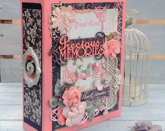Scrapbook Album,   Love Themed Srapbook album, Wedding Album, Anniversary Album, Valentine's Gift, Wedding gift