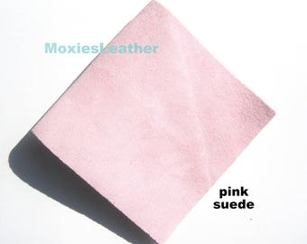 Pink suede pieces - pink suede leather - pink suede pieces - pink suede moxies suede -