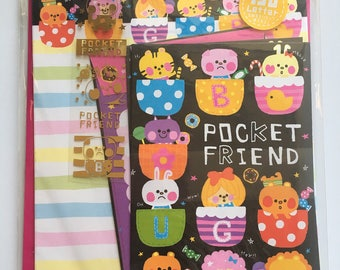 Kawaii Letterset Pocket Friends bear bunny kitty candy