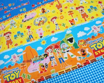 LAST ONE! Disney Fabric Toy Story Print Woody Buzz PANEL 19.6 by 42 inches