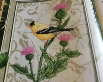 C - GOLDFINCH IN THISTLES - Cross Stitch Pattern Only