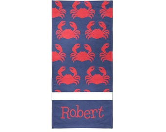Crabby Personalized Beach Towel