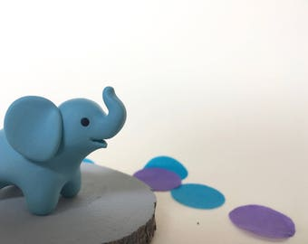 Lucky Elephant Blue - Baby Shower Totem animal figure
