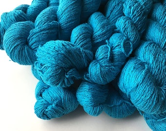 Recycled Lace Yarn - Silk/Cashmere - Tropical Blue