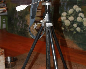 Vintage Nikon Camera with Star Tripod, and Accessories