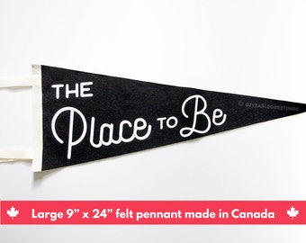 The Place To Be - Seinfeld Tribute -  Vintage Retro Wool Felt Pennant