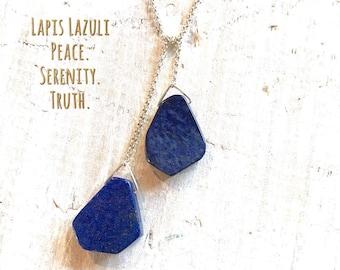Lapis Lazuli ZEN Wrap®  Necklace - Peace & Serenity - 5th chakra