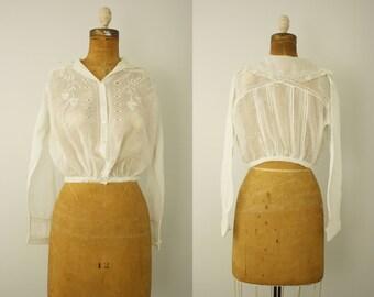 1910s blouse | vintage edwardian blouse