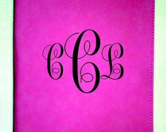 PERSONALIZED  Leatherette Portfolio, Monogrammed Portfolio, Portfolio with Logo, Portfolio with Brand, Graduation Gift