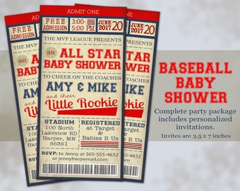 Baseball Baby Shower - Baseball Invitations - Baby Shower Baseball Party - Printable Baseball Invite - All Star Baby Shower - Baseball Decor