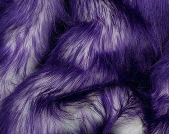Candy Shag Fur Purple 58 Inches Fabric by the Yard, 1 yard