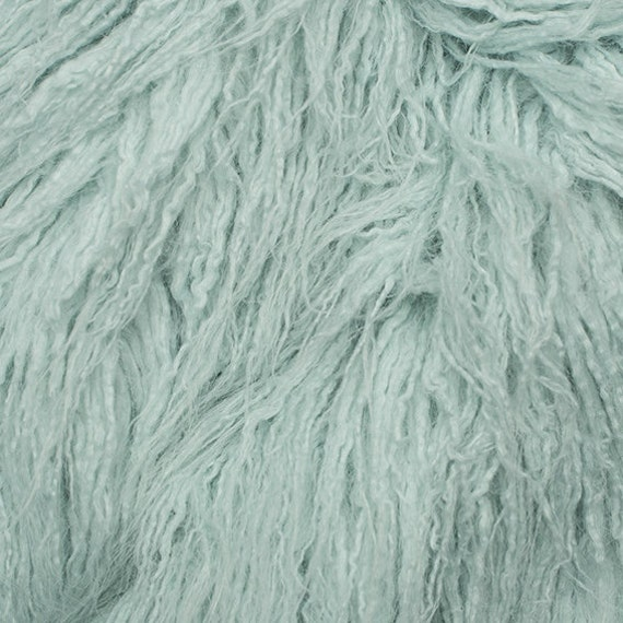 Fake Faux Fur Curly Yak Mist 58 Inch Wide Fabric By The