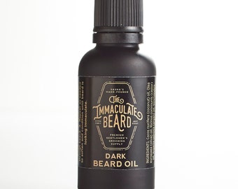 Beard Oil DARK, Natural, 1 oz, Tobacco, Caramel, Mandarin, Honey, Rose, Immaculate, beard care, beard grooming, beard conditioner, Father