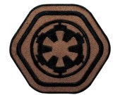 Star Wars Empire Crest Brown Iron-On Patch DIY Imperial Officer Uniform Applique