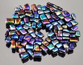 Mosaic Tiles In Multiple Bright Colors, Tiny Glass Tiles, Dichroic Tiles, Handmade Mosaic Tiles, Teeny Mosaic Tiles