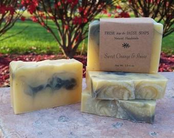 Sweet Orange & Anise, Kitchen Scrub soap, Natural Handmade Soap, 100% Natural, VEGAN