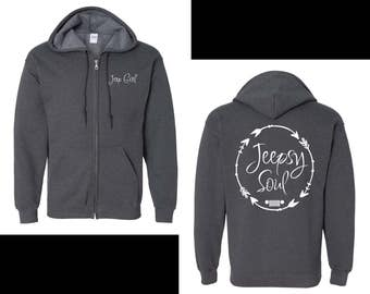 Jeep Girl {Jeepsy Soul} Full Zip Hoodie