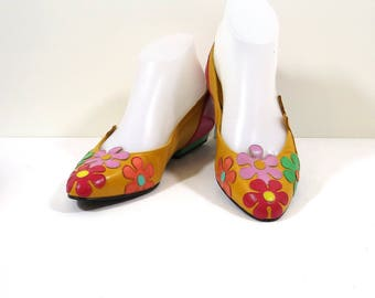 TIMOTHY HITSMAN Multicolor Flower Flats Size 7M
