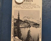 Vintage 1937 Washington State Tax Token and Souvenir Mailing Tag Postcard Unused