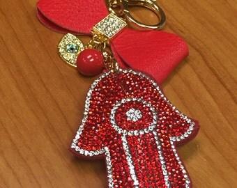 Valentine Day gift Evil eye charm Hamsa Protection Hamsa Keychain Evil eye keychain Unique Gift for Valentine Day