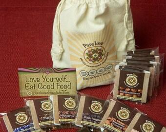 Dark Chocolate Mini Sampler 11 pack: Low Carb, Vegan, Stevia Sweetened (Free Shipping)