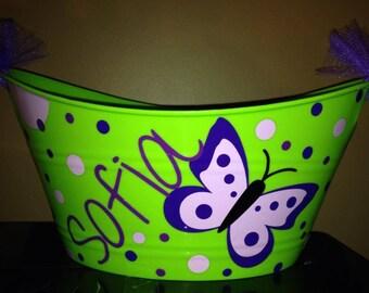 Personalized Butterfly Inspired Bucket/Basket