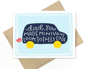 funny father's day card - minivans