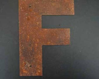 """10"""" Rusted Metal Letters with or with out mounting holes"""