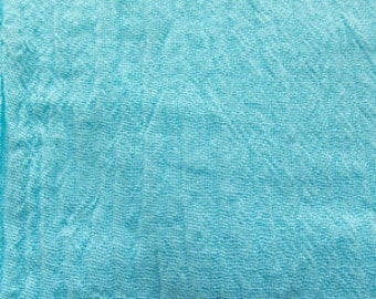52 Inch Cotton Gauze Turquoise Fabric by the yard - 1 Yard