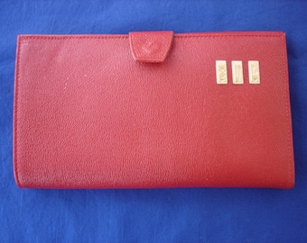 Red Leather Ladies Enger Kress Wallet