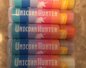 Unicorn personalized Lip Balm 60 Chapstick Consultants Gifts Marketing Kit Business Cards party favors customer thank you gift