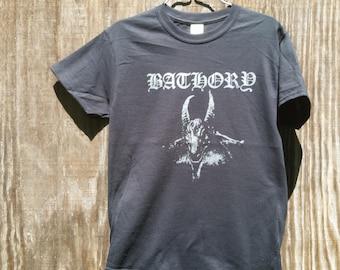 BATHORY Dark SILVER on Black Metal **Limited Edition** T-SHIRT