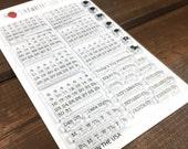 Don't Forget Calendar planner stamp set