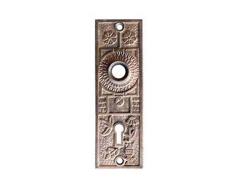 Brass Eastlake Door Plate