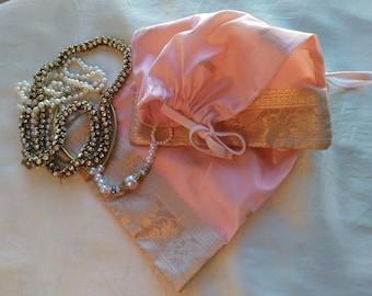 handmade silk sachet