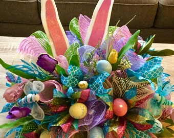 Easter Centerpiece , Bunny Centerpiece ,Easter decoration , Easter
