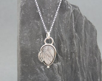 Black Rutilated Quartz Necklace, Sterling Silver Metalwork Jewelry, Silver Gemstone Necklace, Boho Chic, Silver Stone Pendant, Jewelry Gift