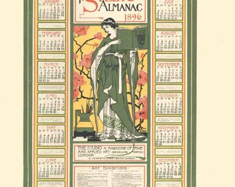 Arthur A. Orr-The Studio Almanac-1897 Lithograph