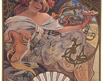 Alphonse Mucha-Biscuits Lefevre-Utile-1994 Poster